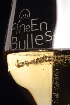 verre fine en bulles