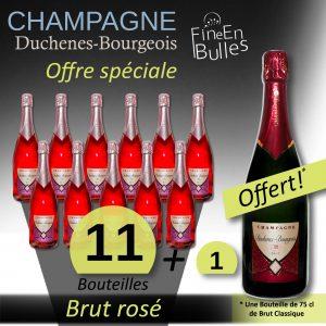 Champagne Duchenes-Bourgeois – Offre spéciale Brut rosé