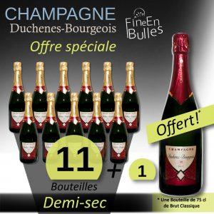 Champagne Duchenes-Bourgeois  – Offre Spéciale Demi-sec