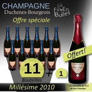 Champagne Duchenes-Bourgeois – Offre spéciale Millésime 2010